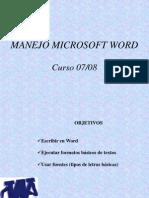Manejo Microsoft Word