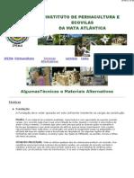 eco materiais- Instituto de Permacultura da Mata Atântica (Técnicas e Materiais Alternativos de Construção)