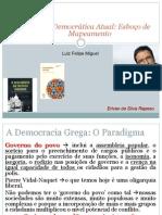 Teoria Democrática Atual Esboço de Mapeamento Luis Felipe Miguel