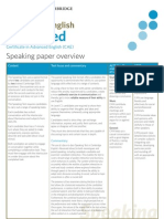 CAE Speaking Paper Overview