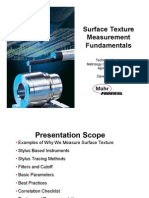 Surface Texture Measurement Fundamentals for Metrology Center Open House