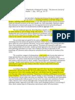 Emirbayer Manifesto Pudrovska