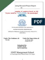 Sudhir Internship on Tata Steel. jamshedpur (skills mapping)