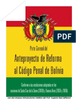 Anteproyecto de Reforma Al Codigo Penal de Bolivia