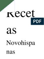 Recetas Novohispanas