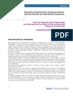 DAAD Convocatoria Becas de Posgrado Para Profesionales 2012