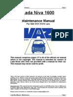 Lada 1600 Maintenance Manual