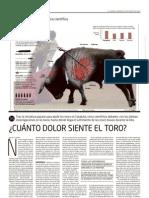 ¿Cuanto dolor siente el toro? (El Mundo, 28 de Octubre de 2010)