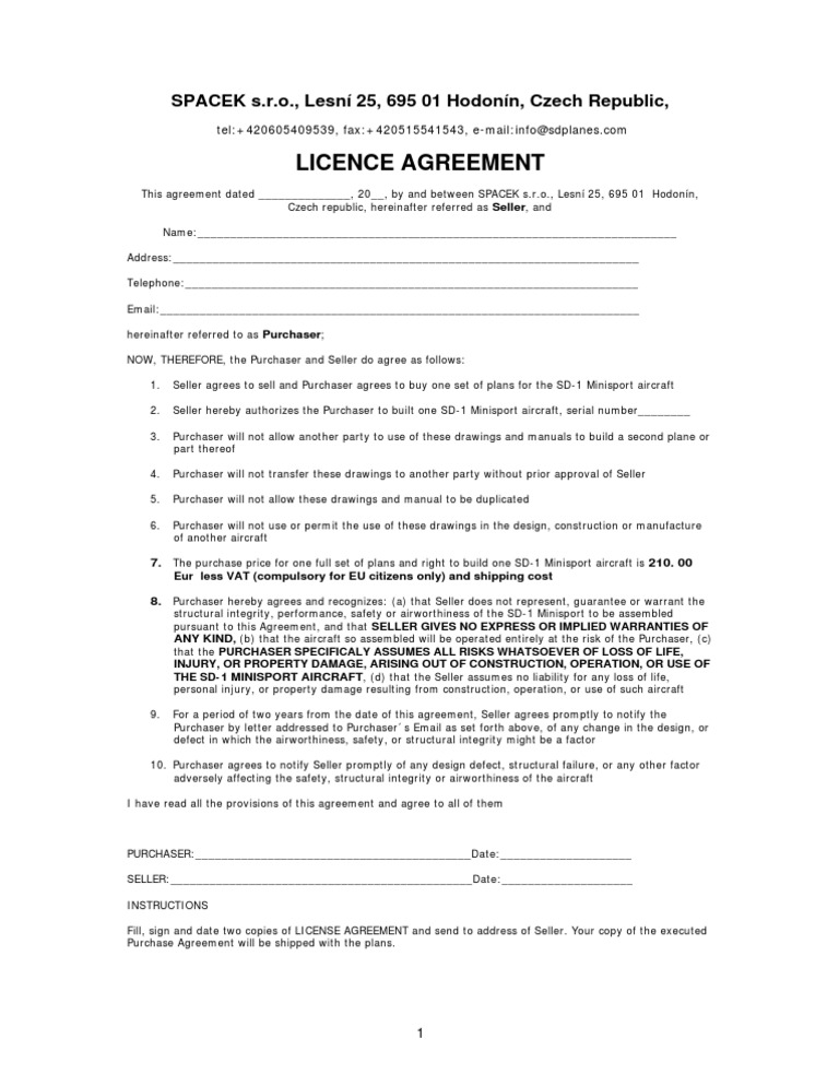 License Agreement Limited Liability Company Common Law