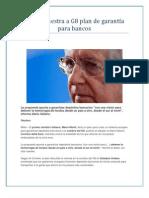 Monti muestra a G8 plan de garantía para bancos