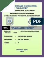 Qué es la Planilla Electrónica IZA