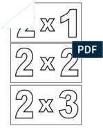 Tarjetas de Las Multiplicaciones 1