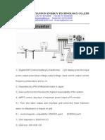 Tanfon Grid Tie(on Grid) Inverter Data
