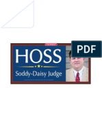 Bryan Hoss for Soddy-Daisy Judge