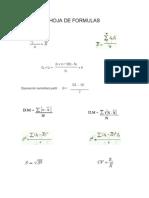 Hoja de Formulas