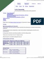 Machining Guidelines for Vesconite