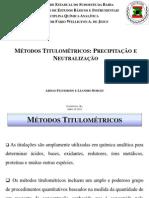 Métodos titulométricos (preciptação e neutralização)