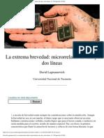 00 Lagmanovich, David - La extrema brevedad (Microrrelatos) 28 pág.