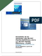 Novedades de La Versin 1 91 de La Planilla Electrnica y de La Versin 2 1 Del PDT PLAME3101