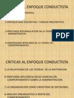Criticas Al Enfoque Conductista