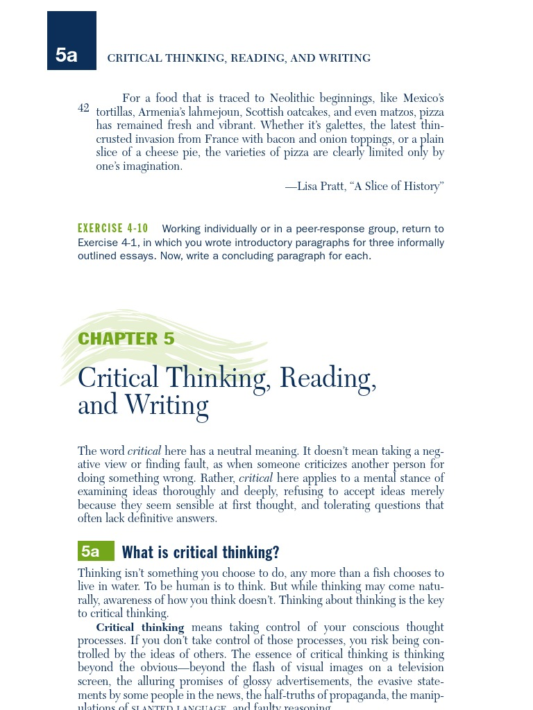 meaning of the word critical thinking