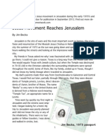 Jesus Movement in Jerusalem