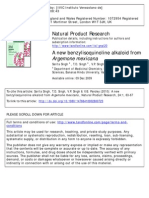 A New Benzylisoquinoline Alkaloid From Agemone Mexicana