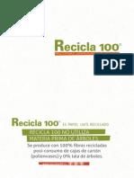 Recicla 100%. Papel ecológico