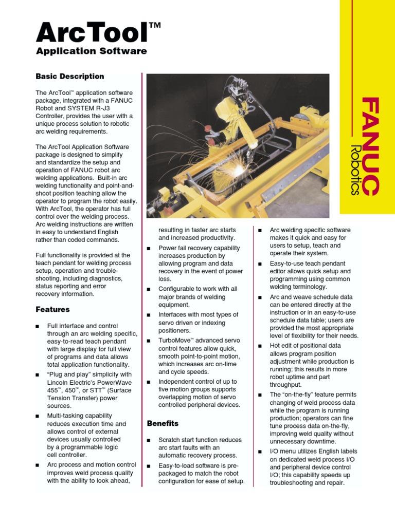 FANUC Software ArcTool | Welding | Robot