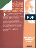 cronica de una muerte anunciada - Gabriel García Márquez