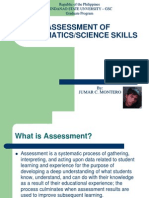assessment of science/mathematics skills