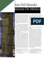 Memorias del Mundo Memoria De México.