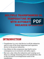 Multiple Transformers Oil Temperature Monitoring With Automatic Circuit