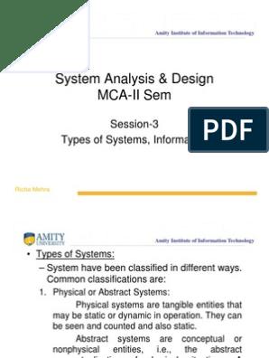 Sad Mca Ii Session 3 Types Of System Compatibility Mode Information System Management Information System