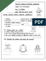 EVS Worksheet - Class I ( Lesson 4