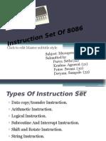Instruction Set of 8086