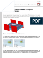 Optical Ring-Coupler Simulation Using CST MICROWAVE STUDIO