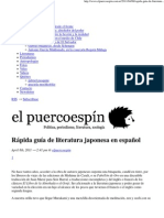 Rápida guía de literatura japonesa en español