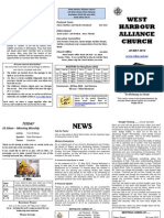 Church Newsletter - 20 May 2012