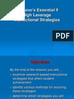 Marzanos Nine Strategies