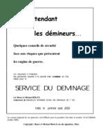Service Du Deminage