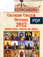 2012 Calendar Crestin Ortodox