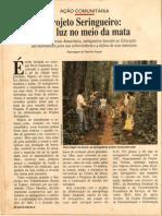 Report a Gem Com Chico Mendes Na Revista Nova Escola Em Setembro de 1988