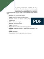 ACCA Examinations Verbs