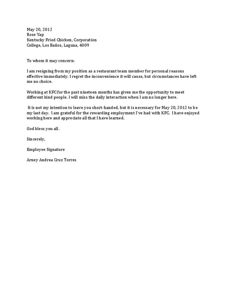 Kfc resign expocarfo Images