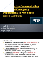 The Ineffective Communication in Hospital Emergency Departments (Monday)