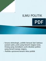 SOSPOL 4 Ilmu Politik