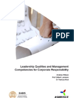 Leadership Qualities and Management Competencies for Corporate Responsibility