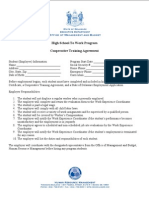 Cooperative Training Agreement
