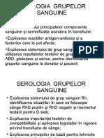 Serologia Grupelor Sanguine